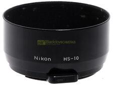 Nikon paraluce tele HS-10 per Nikon 85mm. f2. Innesto a molla 52mm.