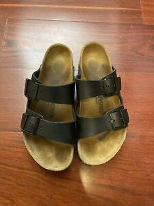 Birkenstock Arizona Black Leather Sandal Size 42 US