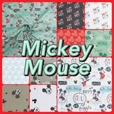 Children's Disney Mickey & Minnie Mouse Licensed 100% Cotton Patchwork Fabric