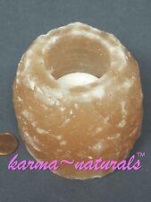 HIMALAYAN Natural Crystal SALT Tealight CANDLE HOLDER - Medium Pink - Aloha Bay