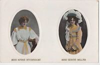 POSTCARD  ACTRESSES  GERTIE  MILLAR & MARIE STUDHOLME