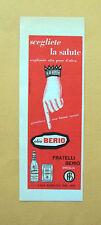 D355 - Advertising Pubblicità- 1959 - OLIO BERIO SCEGLIETE LA SALUTE