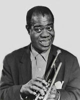 Jazz Band LOUIS ARMSTRONG Glossy 8x10 Photo Music Print Entertainment Portrait