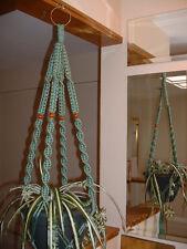 Macrame Plant Hanger SAGE 4 WALNUT BEADS