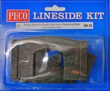 Peco NB-33. Bridge Sides for Single Track  x 2. (N) Railway Model