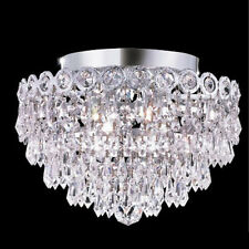 New!  Chandeliers Chrome  4 Lights Flush Lighting 12x10