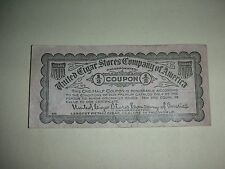 United Cigar Stores Company of America - 1/2 Coupon