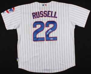 Addison Russell Signed Chicago Cubs Pinstripped Majestic MLB Jersey (PSA COA)