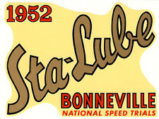 1952 STA-LUBE BONNEVILLE DRAG RACE HOT RAT ROD DECAL VINTAGE LOOK STICKER