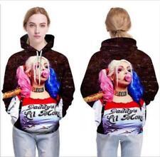 New Hat hoodie Squad Harley Quinn printed Pullover Pocket hoodies M-6XL Hoodie