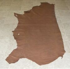 (CCE7634) Side of Brown Printed Cow Leather Hide Skin