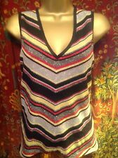 BEAUTIFUL PLANET TUNIC TOP SIZE MED, SPARKLY FRONT, LUREX, PLAIN BACK, VGC