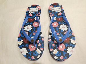 Kate Spade NY Nassau Flip Flops Cornflower Blue Size 7, 8 or 9 Authentic NWB