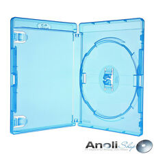 50 Amaray Blu-ray Hüllen 15 Mm blau Single