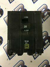 Square D Qob320, 20 Amp, 240 Volt, 3 Pole, Yellow Circuit Breaker- New