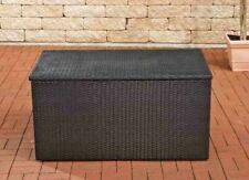 Auflagenbox Schwarz Polyrattan Gartenbox Kissenbox Truhe Aufbewahrungsbox