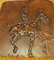 CAPITANO CAPRILLI e cavallo POUFF- MARIE LOUISE RADZIWILL - scultura bronzo 1974
