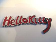 Nouveau Chrome Métal Hello Kitty rose Script Voiture Badge