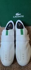 Lacoste White Leather Shoes 28411 Hash 51-60 Sz 9 M