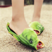 Couple Creative Fish Shower Slippers Funny Beach Shoes Sandals Flip Flops BF