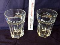 Rare HOEGAARDEN BEER GLASSES 500ml x 2