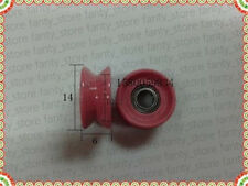 1pc ceramic V groove wire string ball bearing guide wheel,OD 14,aperture 4mm A9G