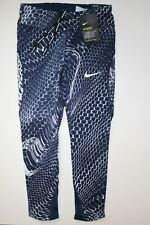 NIKE POWER EPIC LUX GRAPHIC RUNNING CAPRI CROP 3/4 TIGHTS OBSIDIAN 902218-451 XS