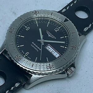 VINTAGE LONGINES ADMIRAL AUTOMATIC DIVER 5 STAR WATCH REF 7404 38 MM