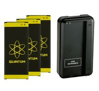 3x Quantum 6960mAh Extended Slim Battery + Charger for Galaxy Note 4 IV SM-N910