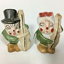 VTG Cricket Salt & Pepper Shaker Set Bass Instrument Made Japan Grasshopper Bug