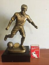 SOCCER (#9) FOOTBALL TROPHY AWARD  225mm HIGH Special Sale 230 approx only