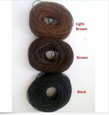 Real Genuine 100% Leather  Thong Cord in 1mm 2mm 3mm 4mm thick - Black or Brown