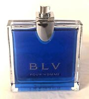 BLV Pour Homme by Bvlgari 3.3 / 3.4 oz edt spray Men Cologne NEW Tester in Box