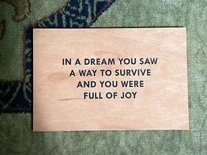JENNY HOLZER Truisms Postcard 2018 : IN A DREAM YOU SAW A WAY TO SURVIVE AND ...