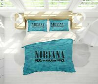 3D Nirvana Rock Band Quilt Cover Sets Pillowcases Duvet Comforter Cover B19