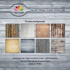 New Dixi Craft 15cm x 15cm Paper Pad Wooden Background