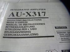 Sansui AU-X317 Owner's Manual  Operating Instructions Istruzioni New