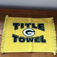 McArthur Yellow Green & White Green Bay Packers Football TITLE TOWEL Small Terry