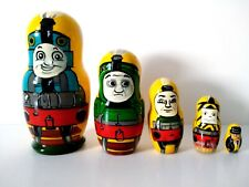 New Hand Painted Russian Nesting Doll Disney Thomas The Train 5 Pc Set