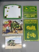 John Deere Farm Equipment Metal Tin Sign License Plate Vintage Style Barn New