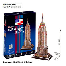 3D Puzzle Empire State Building Cardboard Jigsaw Puzzle DIY Educational C704h