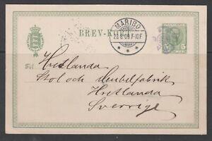 "Denmark 1907. P.S. card to Sweden with star canc. ""FEMØ"""