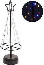 35cm Metal Frame Christmas Tree 75 LED Lights Light Up Xmas Tree Desk Tree