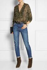 "NWOT ISABEL MARANT ""Charley"" Top Blouse $445 SZ 40 Leopard Print Chiffon Shirt"