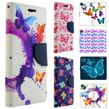 Phone Case for LG Flip Cover Protective Case Pouch Wallet Motif Butterflies