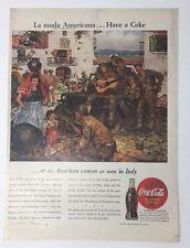 Original Print Ad 1945 COCA-COLA Coke La Moda Americana Have a Soldiers