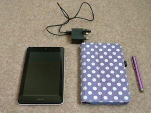 ASUS 7 inch ME173X MeMO Pad Tablet White + Case Bundle 1GB RAM, 16GB + 32GB SD