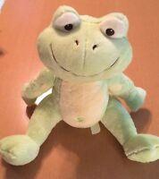 "Pb Bambino Light Green Frog Plush 14"""
