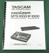 Tascam MTS-1000 Midiizer Owner's Manual: Comb Bound & Protective Covers!