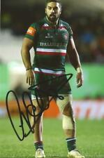LEICESTER TIGERS RUGBY UNION: GARETH OWEN SIGNED 6x4 ACTION PHOTO+COA
